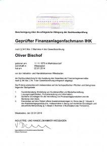 Oliver Bischof Finanzanlagenfachmann
